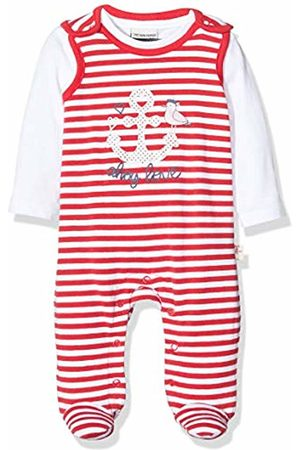 Salt & Pepper Baby Girls' Gestreift Mit Anker Glitzerdruck Footies, Lollipop 344