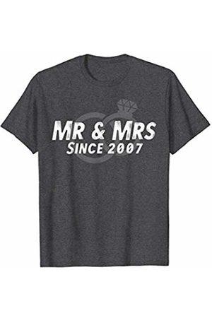Wowsome! Mr & Mrs Since 2007 - 13th Wedding Anniversary Matching Gift T-Shirt