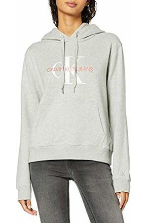 Calvin Klein Women's Monogram Relaxed Short Hoodie Sweatshirt