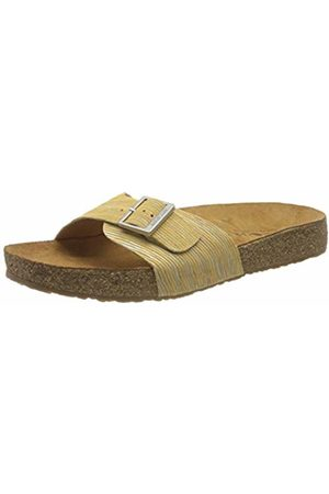 Haflinger Unisex Adults' Bio Gina T-Bar Sandals, (Gelb 1558)