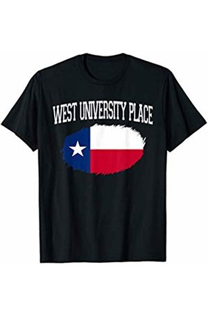 America Love Varsity Style TX Proud Home City Gift WEST UNIVERSITY PLACE TX TEXAS Flag Vintage Sports Men Women T-Shirt