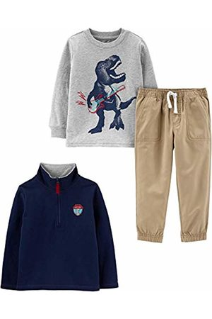 Simple Joys by Carter's 3-piece Jacket, Long-sleeve Shirt, and Pant Playwear Set Navy Dino