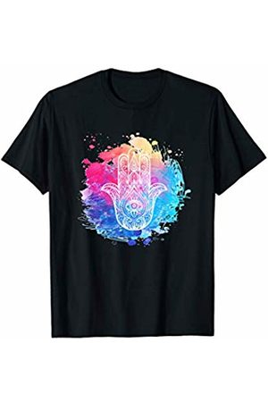 J.M Yoga Womens Colorful Graphic Yoga Pilates Work-out Mindfulness T-Shirt