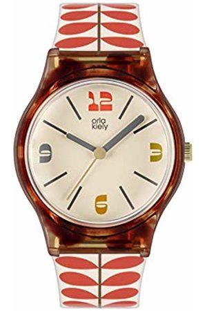 Orla Kiely Women's Analogue Analog Quartz Watch with Plastic Strap OK2334