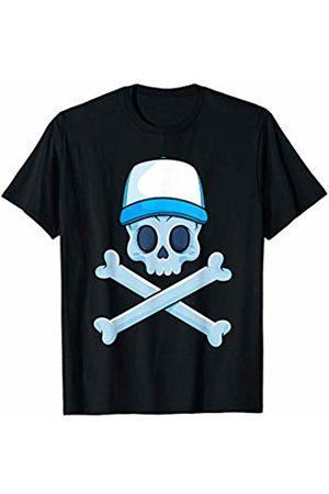Jolly Roger Pirate Gift Store Jolly Roger Pirate Skull Crossbones Boy Skeleton Bones Boys T-Shirt