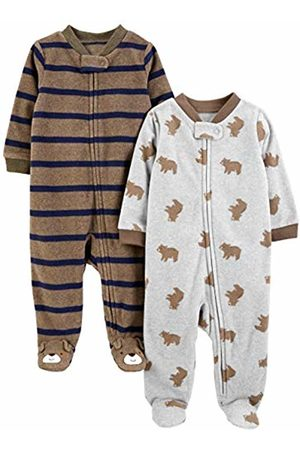 Simple Joys by Carter's 2-pack Fleece Footed Sleep and Play Sleepers, Bear/ Stripes, Premature