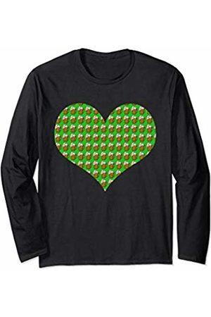 Below Normal Tees Heart Love Beer Funny Drinking Beers Adult Joke Gift Long Sleeve T-Shirt