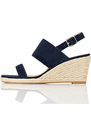 FIND Amazon Brand - Wedge Two Part Espadrille Sandal