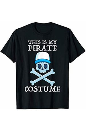 Jolly Roger Pirate Gift Store This Is My Pirate Costume Cruise Lazy Halloween Men Boys T-Shirt