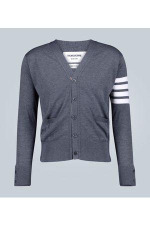 Thom Browne Stripe-detailed wool cardigan