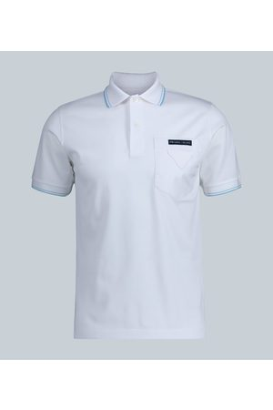 Prada Contrast-pocket polo shirt