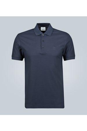 Burberry Checked placket cotton polo shirt