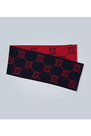 Gucci GG jacquard wool-silk scarf