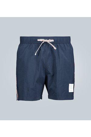 Thom Browne Grosgrain-trimmed swim shorts