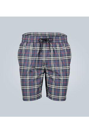 Burberry Checked drawcord swim shorts