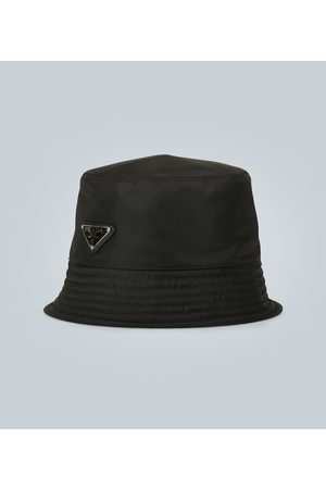 Prada Logo tab bucket hat