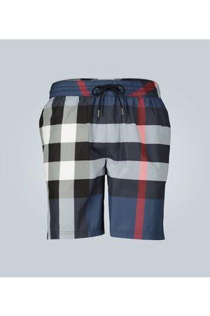Burberry Large check-printed swim shorts