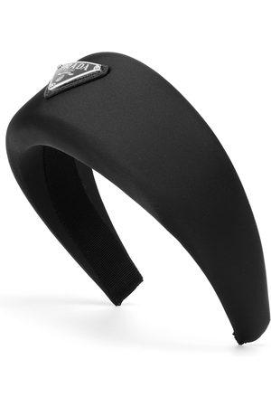 Prada Logo-embellished satin headband