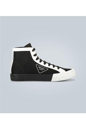 Prada Paneled high-top sneakers