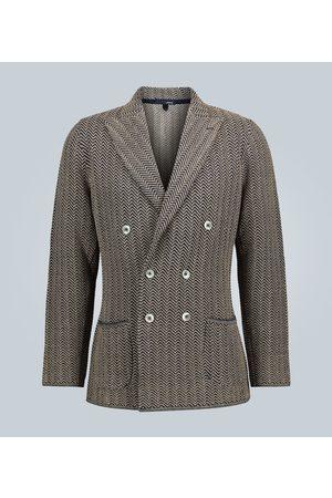 LARDINI Knitted cotton-linen blazer