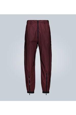 Prada Exclusive to Mytheresa – technical pants with contrast zips