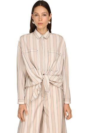SUNNEI Oversize Cotton & Lyocell Shirt