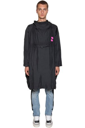 OFF-WHITE Hoodie Logo Patches Nylon Raincoat