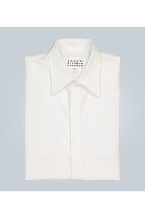 Maison Margiela Concealed button cotton shirt