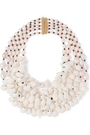 Prada Multiple shell chain necklace