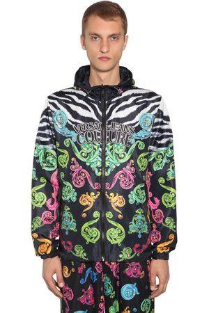 VERSACE Reversible Hooded Printed Ripstop Jacket