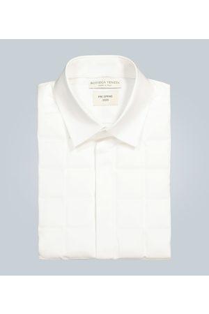 Bottega Veneta Square-quilted formal shirt