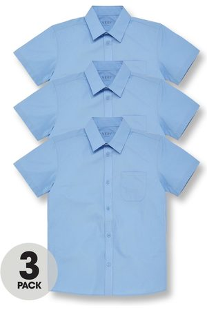 Very Boys Short sleeves - Boys 3 Pack Short Sleeved School Shirt