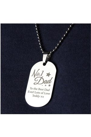 Vero Moda Very Personalised Stainless Steel No1 Dad Dog Tag Pendant And Chain