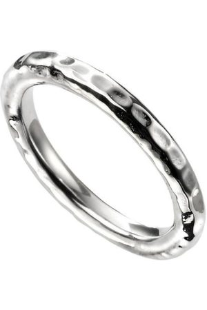 The Love Silver Collection Sterling Hammered Band Ring