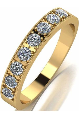 Moissanite 18Ct Gold 0.5Ct Total Eternity Ring