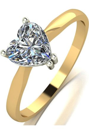 Moissanite 9Ct Gold 1.00Ct Heart Solitaire Ring