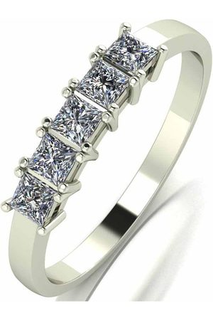 Moissanite 9Ct Gold 0.50Ct Square Brilliant Eternity Ring