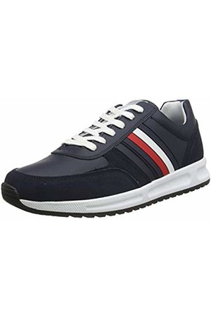 Tommy Hilfiger Men's Modern Corporate Leather Runner Low-Top Sneakers, (Desert Sky Dw5)