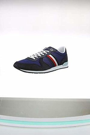 Tommy Hilfiger Men Trainers - Iconic Material Mix Runner, Men's Low-Top Sneakers, ( Ink C7h)