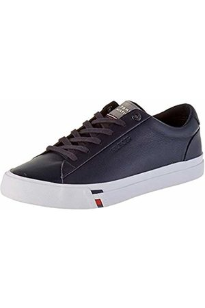 Tommy Hilfiger Men's Corporate Leather Sneaker Low-Top, (Desert Sky Dw5)
