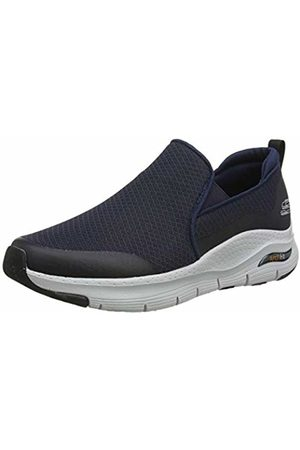 Skechers Men's Arch FIT Slip On Trainers, (Navy Mesh/Synthetic/Trim NVY)