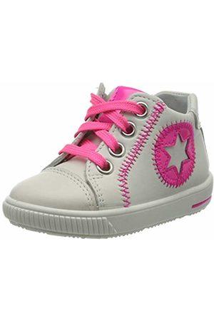Superfit Baby Girls' Moppy Low-Top Sneakers, (Weiss/Rosa 10)