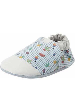 Robeez Baby Girls' Tattoo Style Slippers, (Blanc BLEU Clair 33)