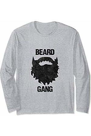 Bearded Men No Shave Father's Day Apparel Beard Gang - Funny Mens Facial Hair Long Sleeve T-Shirt