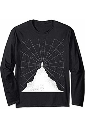 Funny Planet Gifts Man on Top Spiral Lines Stars Gift Long Sleeve T-Shirt