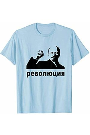 Resistance in Russia Revolution in Cyrillic Lenin With Fist Up Street Art Stencil T-Shirt