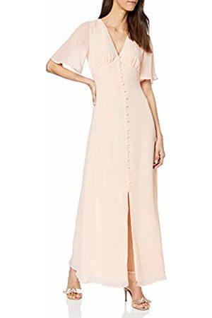 warehouse Women's Angel Sleeve Button Front Maxi Dress Bridesmaid