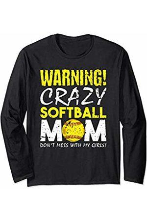 Girls Softball Fastpitch Mom Gifts Girls Fastpitch Softball Funny Mom Long Sleeve T-Shirt