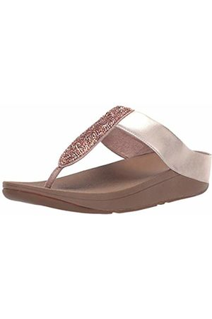 FitFlop Women's Sparklie Roxy Toe Post Flip Flops, (Rose 323)