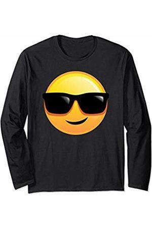 Favshirts - Emoji Smiley Cool Guy Easy Going Chill Sunglasses Smiley Emoji Long Sleeve T-Shirt